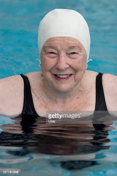 Swimmer in bathing cap