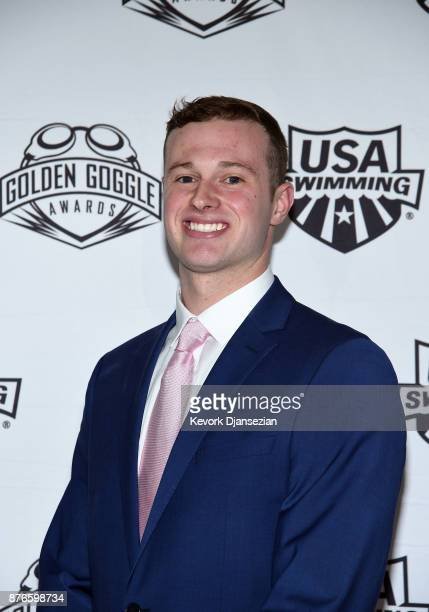 Swimmer Jack Conger attends the 2017 USA Swimming Golden Goggle Awards at JW Marriott at LA Live on November 19 in Los Angeles California