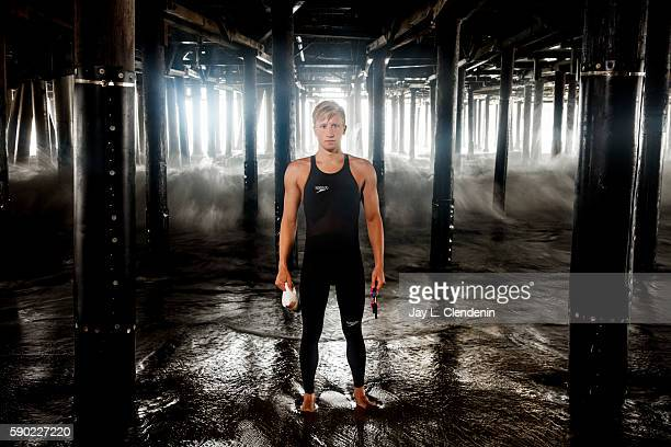 Swimmer Jordan Wilimovsky is photographed for Los Angeles Times on June 4 2016 in Santa Monica California PUBLISHED IMAGE CREDIT MUST READ Jay L...