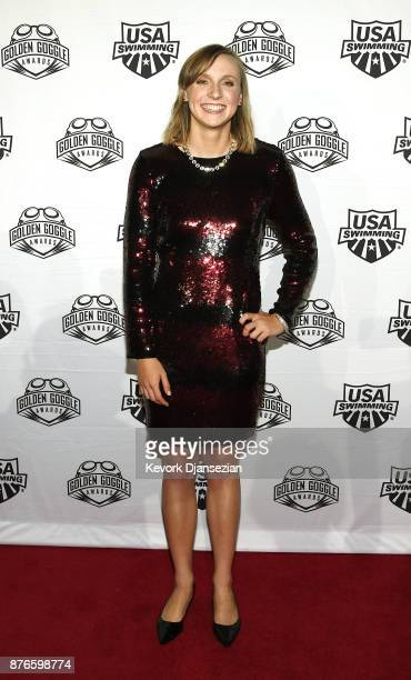 Swimmer Katie Ledecky attends the 2017 USA Swimming Golden Goggle Awards at JW Marriott at LA Live on November 19 in Los Angeles California