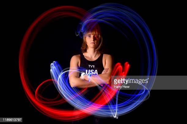 Swimmer Katie Ledecky poses for a portrait during the Team USA Tokyo 2020 Olympic shoot on November 23, 2019 in West Hollywood, California.