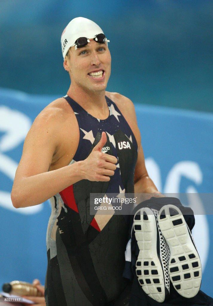 US swimmer Klete Keller smiles after win : News Photo