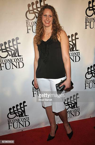 Swimmer Margaret Hoelzer attends the 23rd Annual Great Sports Legends Dinner to Cure Paralysis at the Waldorf Astoria on September 22 2008 in New...