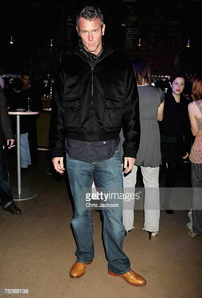 Swimmer Mark Foster is seen at the Ford Motor Company Britain Private View hosted Rankin on February 8 2006 in London England The acclaimed...
