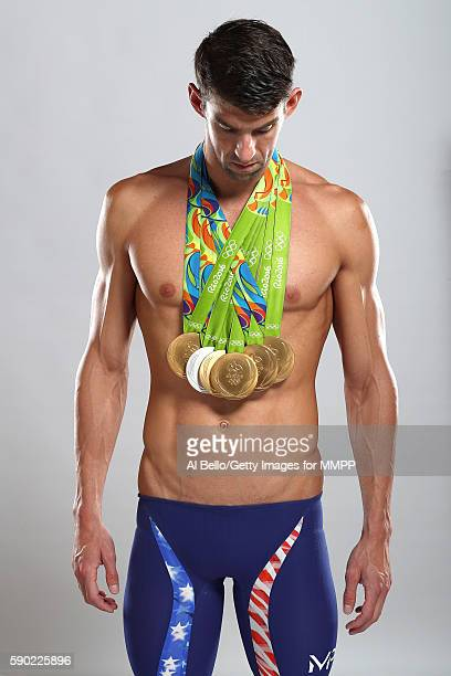 Swimmer Michael Phelps of the United States poses for a portrait on August 16 2016 in Rio de Janeiro Brazil Phelps the most decorated Olympian in...