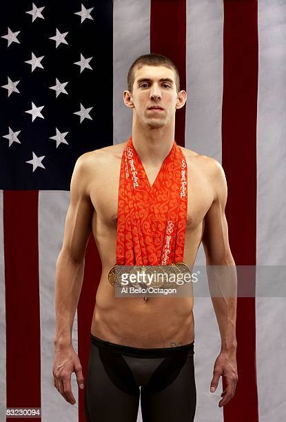 Michael Phelps - 8 Olympic Gold Medal Photo Session