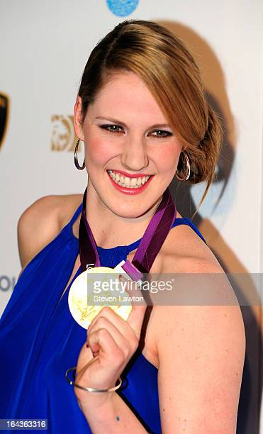Swimmer Missy Franklin arrive at Cirque du Soleil's 'One Night for ONE DROP' at Hyde Bellagio at the Bellagio on March 22 2013 in Las Vegas Nevada