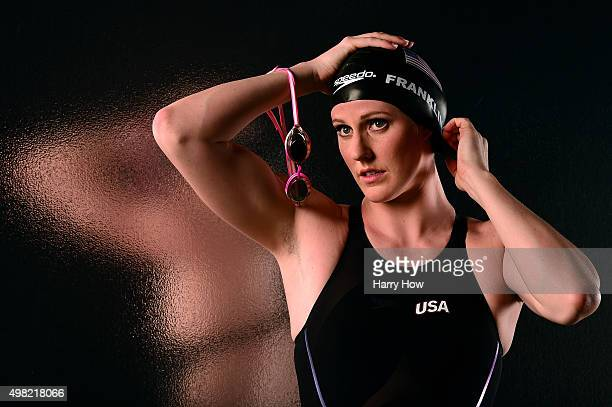 Swimmer Missy Franklin poses for a portrait at the USOC Rio Olympics Shoot at Quixote Studios on November 21 2015 in Los Angeles California