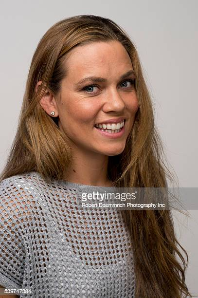 Swimmer Natalie Coughlin poses at the Team USA Media Summit in Dallas Texas in advance of the 2012 London Olympics