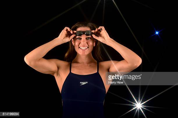 Swimmer Natalie Coughlin poses for a portrait at the 2016 Team USA Media Summit at The Beverly Hilton Hotel on March 7 2016 in Beverly Hills...