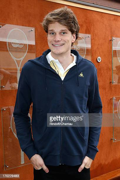 Swimmer Olympic Champion Yannick Agnel sighting at the Roland Garros Tennis French Open 2013 Day 15 on June 9 2013 in Paris France