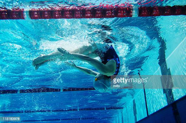swimmer - drehen stock-fotos und bilder