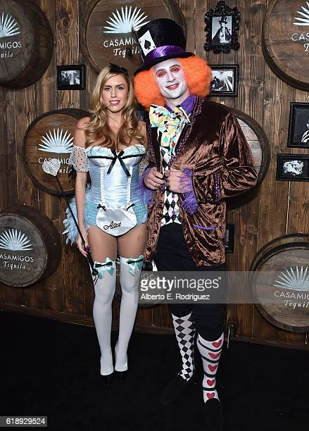 Swimmer Ryan Lochte and guest arrive to the Casamigos Halloween Party at a private residence on October 28 2016 in Beverly Hills California