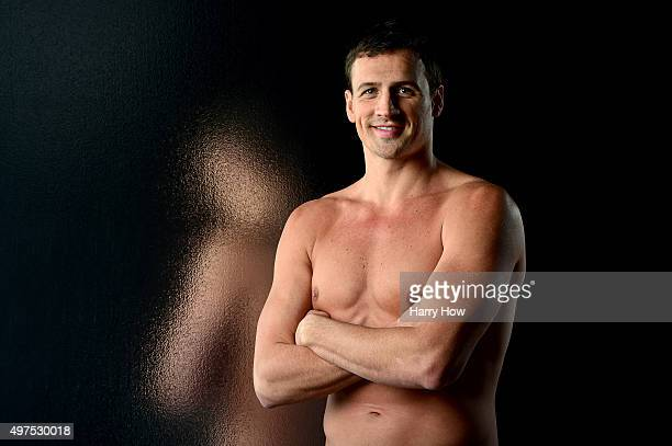 Swimmer Ryan Lochte poses for a portrait at the USOC Rio Olympics Shoot at Quixote Studios on November 17 2015 in Los Angeles California