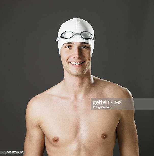 Swimmer smiling, portrait, close-up