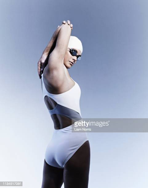 swimmer stretching - warm up exercise stock pictures, royalty-free photos & images
