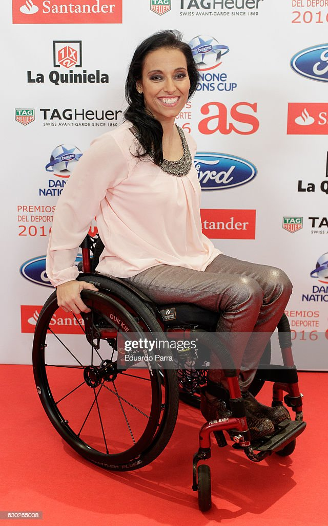 Swimmer Teresa Perales attends the 'As del deporte awards' photocall at Palace hotel on December 19, 2016 in Madrid, Spain.