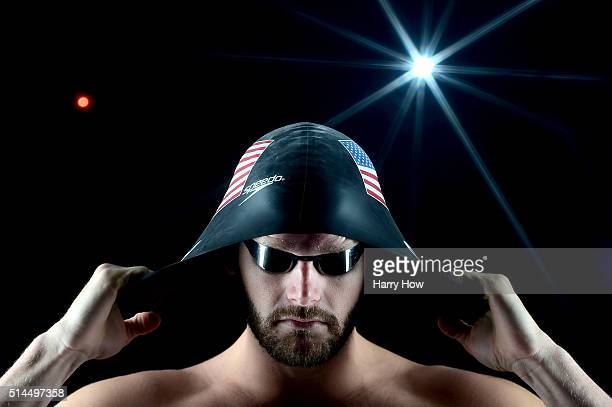 Swimmer Tyler Clary poses for a portrait at the 2016 Team USA Media Summit at The Beverly Hilton Hotel on March 8 2016 in Beverly Hills California