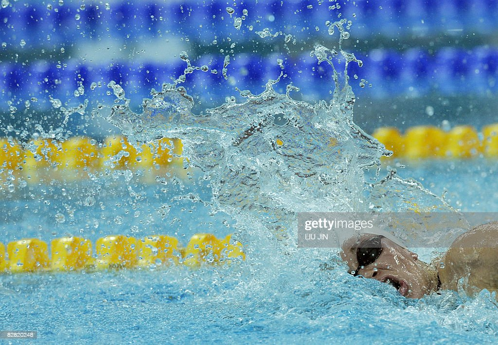 Swimmer Valerie Grand Maison of Canada swims in the women\'s freesyle ...