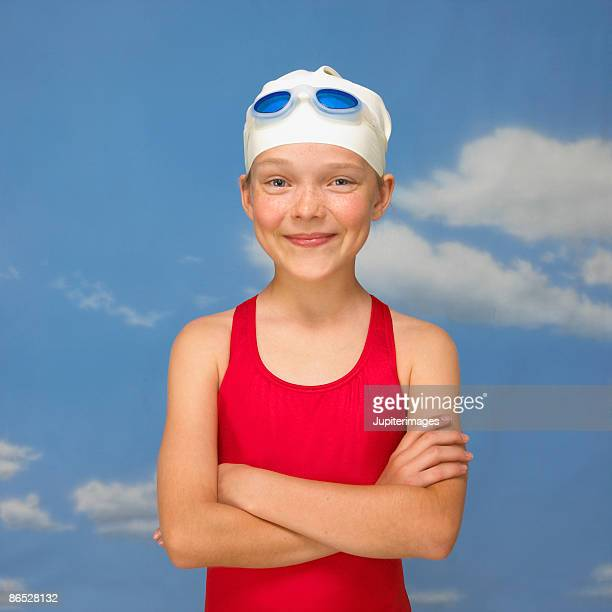 Swimmer with arms crossed