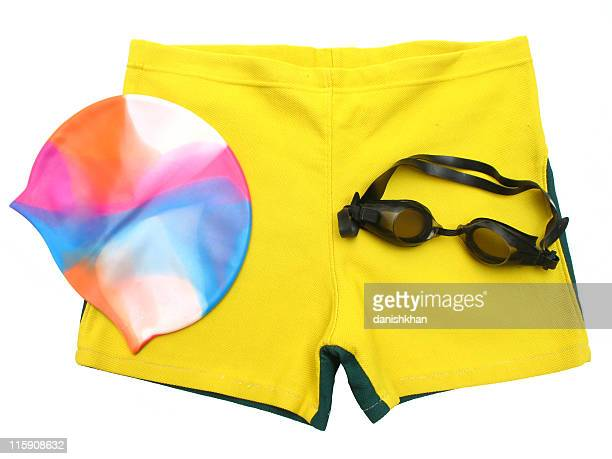 swimmers accessories - zwembroek stockfoto's en -beelden