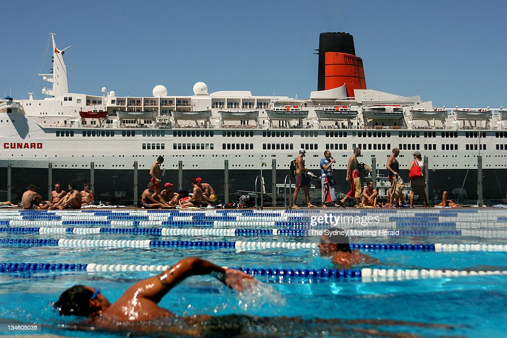 Swimmers At The Andrew Charlton Pool At The Domain Swim Past Cunard News Photo Getty Images