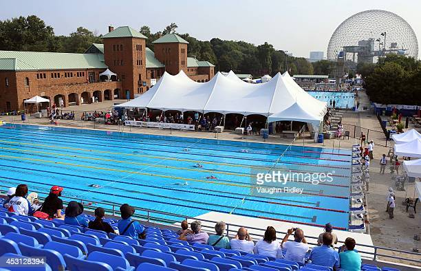 Swimmers compete in the Women's 800m Freestyle at Parc JeanDrapeau during the 15th FINA World Masters Championships on August 03 2014 in Montreal...