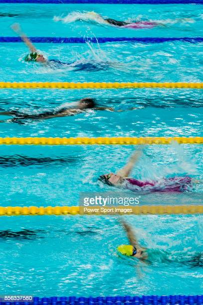 Swimmers competing during the FINA Swimming World Cup Women 400m Individual Medley Final on October 01 2017 in Hong Kong Hong Kong