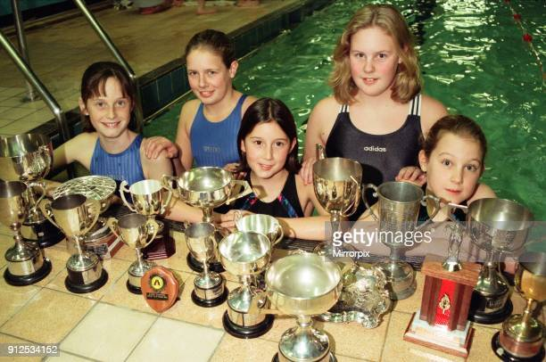 Swimmers from Deepdale in Guisborough swept the board at the Guisborough Swimming Gala With their trophies are left right front Kelly and Robyn Lisle...