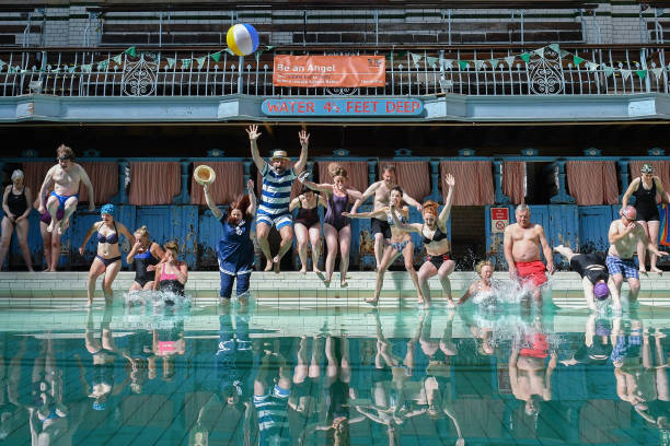 The Victoria Baths Hosts Its First Public Swim In 24 Years Photos And Images Getty Images