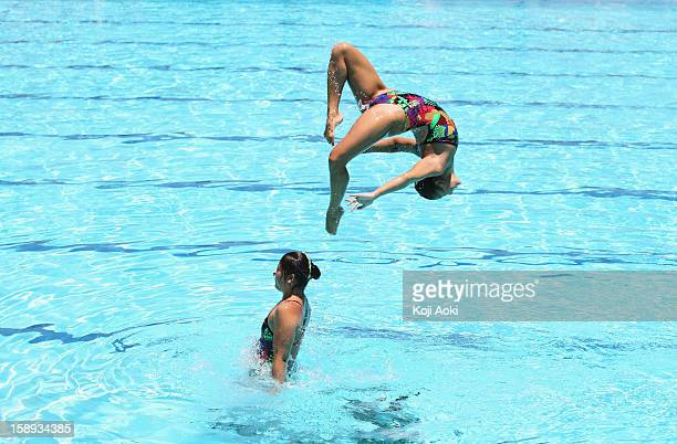 Swimmers Performing Agility
