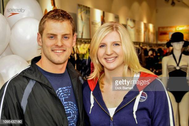 Swimmers Rebecca Adlington and Liam Tancock, 27th December 2007.