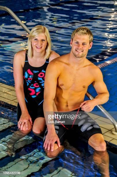 Swimmers Rebecca Adlington and Liam Tancock, 27th January 2009.