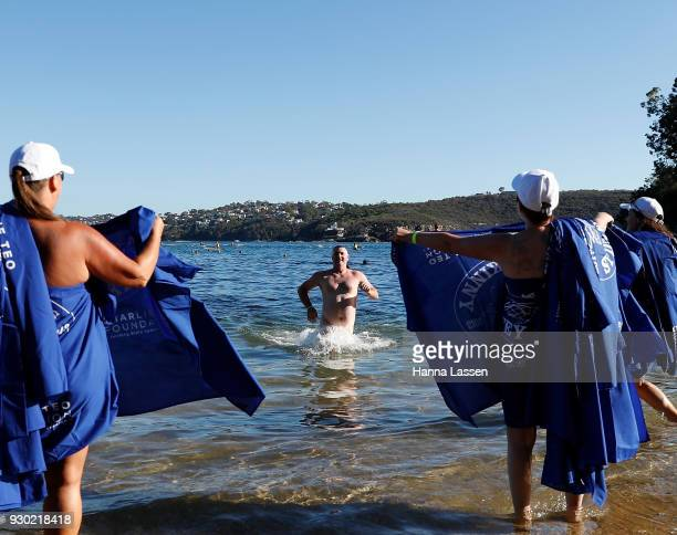 Swimmers take part in the 2018 Sydney Skinny on March 11 2018 in Sydney Australia The annual nude swim event encourages swimmer to raise money for...