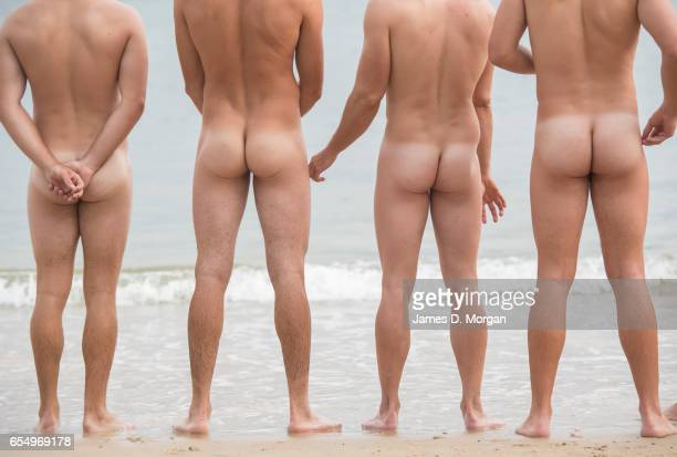 Swimmers taking part in the 'Sydney Skinny' on March 19 2017 in Sydney Australia The annual nude swim event encourages swimmers to raise money for a...