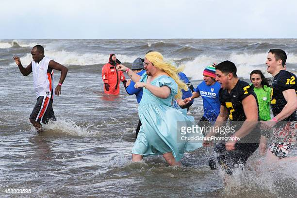 Swimmers Wading Polar Bear Plunge
