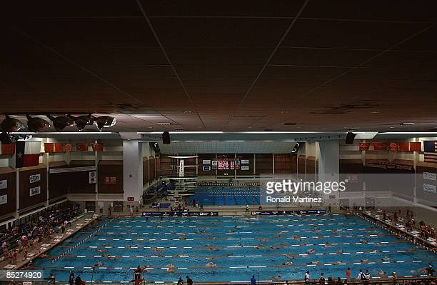 Swimmers warm up during day one of the 2009 USA Swimming Austin Grand Prix on March 5 2009 at the Lee and Joe Jamail Texas Swimming Center in Austin...