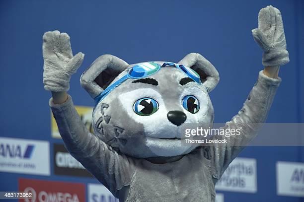 16th FINA World Championships Closeup of snow leopard mascot Itil during competition at Kazan Arena Kazan Russia 8/4/2015 CREDIT Thomas Lovelock