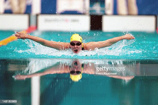 2000 Summer Olympics Australia Susie O'Neill in action during Women's 200M Butterfly Final at Sydney International Aquatic Centre Sydney Australia...