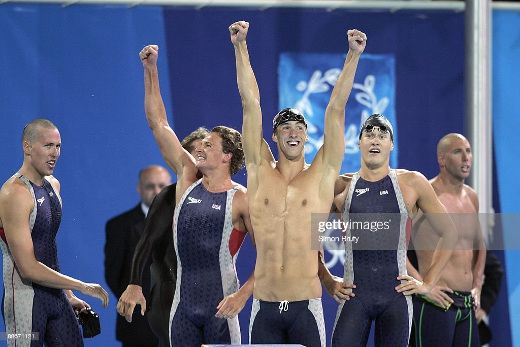 USA Klete Keller, Ryan Lochte, Michael Phelps, and Peter ...