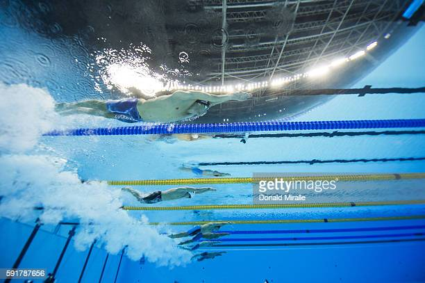 Summer Olympics: Underwater view of USA Michael Phelps in action during Men's 100M Butterfly Final at the Olympic Aquatics Center. Phelps wins...