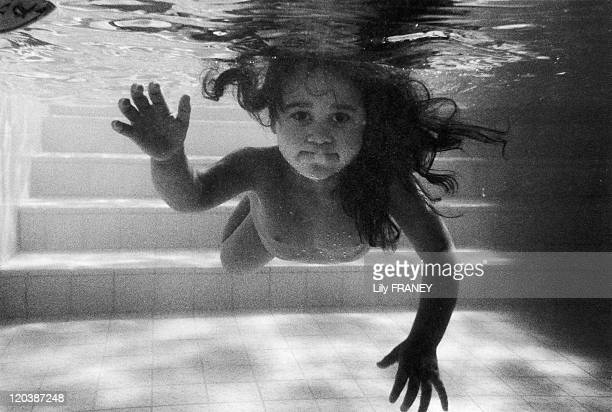 Swimming babies in Champigny Sur Marne France in 1996 The Champigny pool