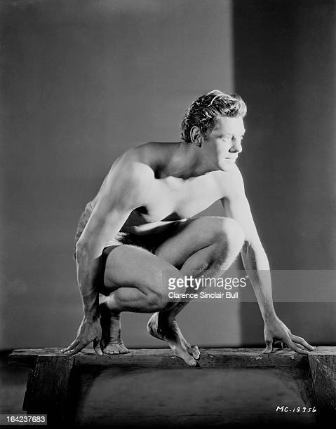 Swimming champion Johnny Weissmuller turns actor for the title role in 'Tarzan the Ape Man' October 1931