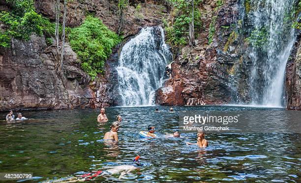 Swimming fun at Florence Falls