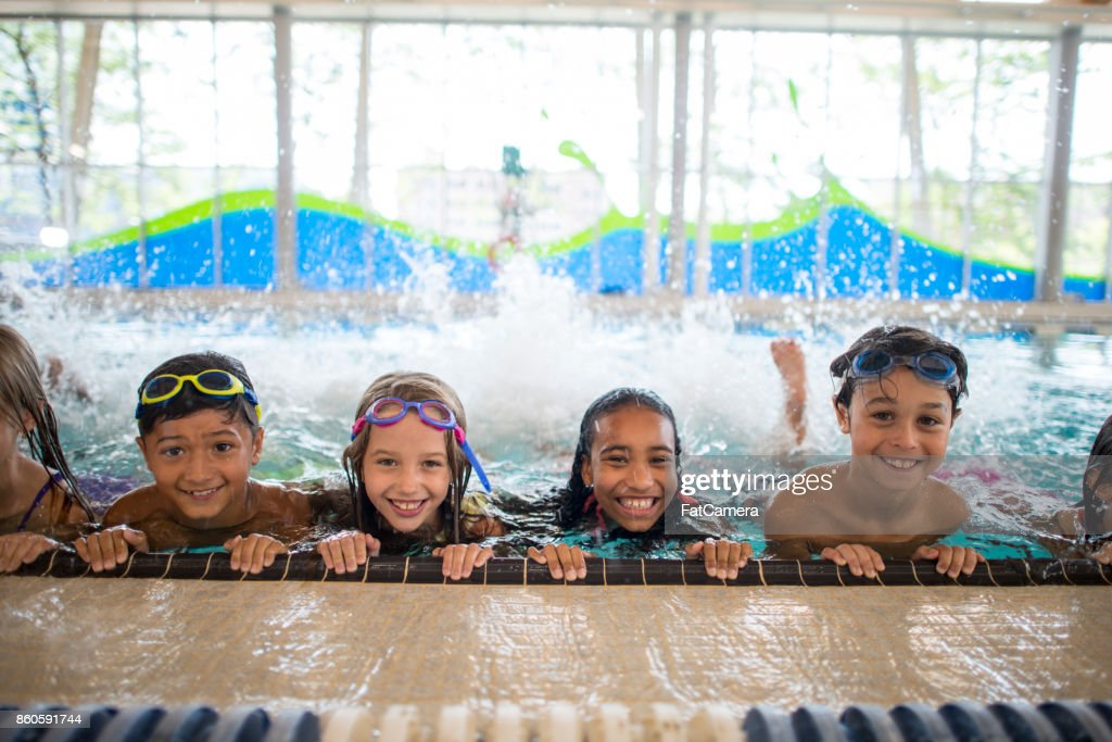 Swimming Group : Stock Photo