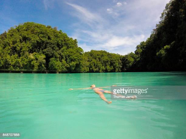 Swimming in the Milky Way Lagoon, Rock Islands, Palau