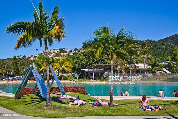 Swimming Lagoon at the Airlie Beach foreshore.
