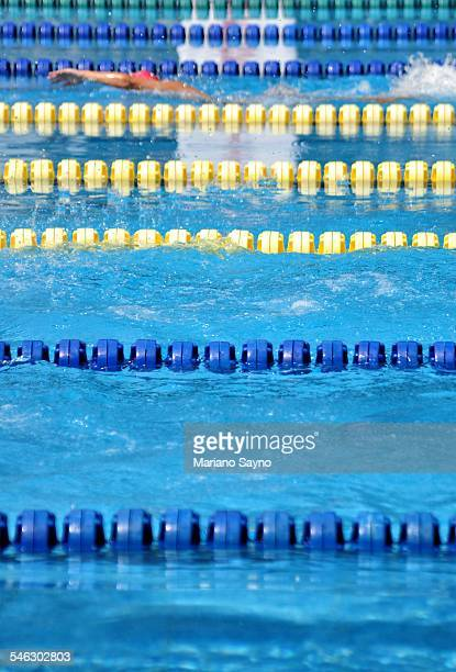 swimming lap pool lane markers - length stock pictures, royalty-free photos & images