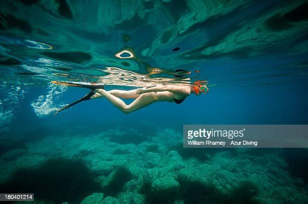 Swimming near les Calanques de Piana