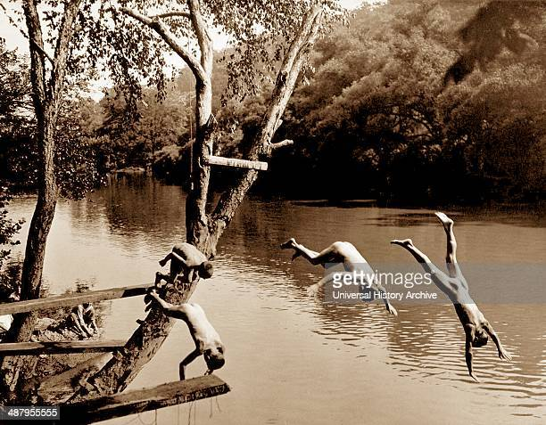 Swimming on the Patapsco River Maryland by Aubrey Bodine in 1933 Aubrey Bodine was an American photographer and photojournalist for the Baltimore...